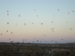 Hot air baloons in Cappadoccia