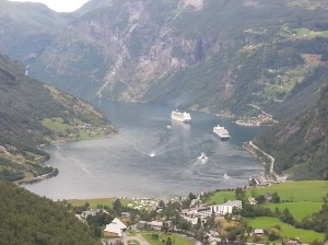 Little Geiranger and our lovely cruise