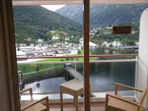 View of Hellesylt from our room