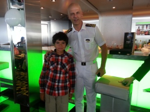 Our son with the captain Giuseppe Maresca