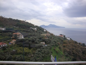 Our room view in Sorrento