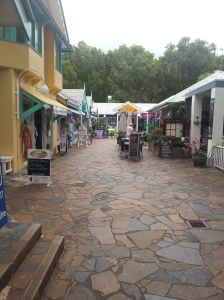 Very calm shopping area