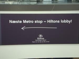 Next station Hilton Lobby