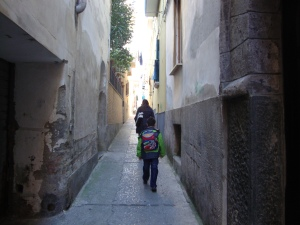 Narrow lanes at Vico Equense