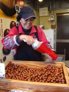 Little chestnuts, definitely the right yummy.
