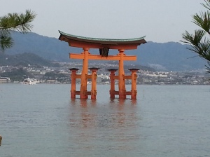 Tori gate at Miyajima island
