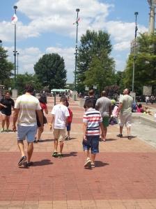 Walking at Atlanta, looking at the names