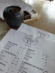 Bistro 17 menu