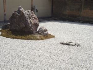 Zen garden of Ryoanji Temple